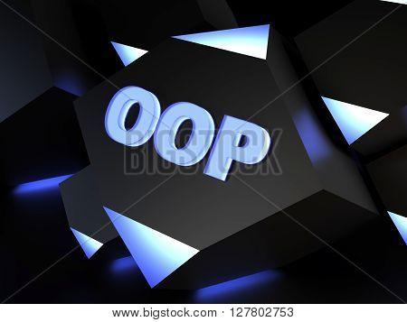 OOP - Object-oriented programming - computer generated image (3D render)
