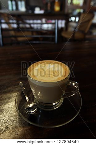 a coffee shop in the city centre of Chiang Rai in the north provinz of chiang Rai in the north of Thailand in Southeastasia.