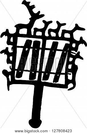 a symbol from Anatolia, black color silhouette