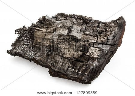 Charred bunt isolated on a white background ** Note: Visible grain at 100%, best at smaller sizes