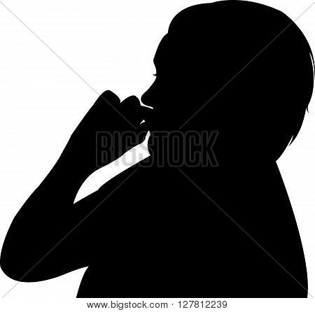 a lady body part silhouette, finger grip