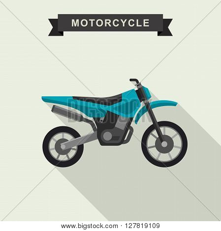 Motocross bike in flat style. Vector illustration.