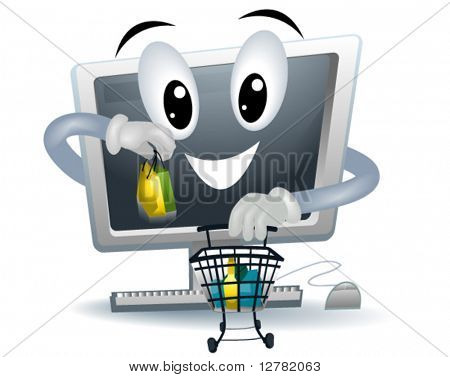 Online Shopping - Vector