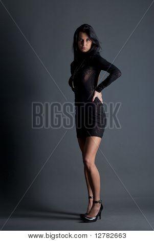 Beautiful lady in elegant dress