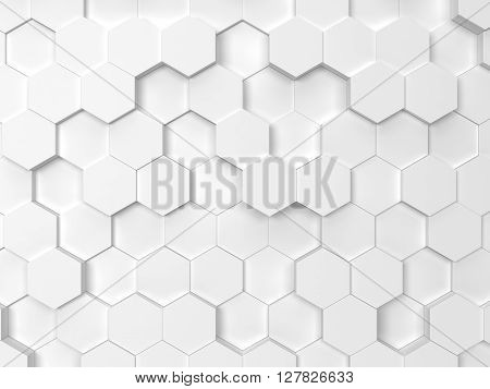 Hexagonal background. 3d background for design and art