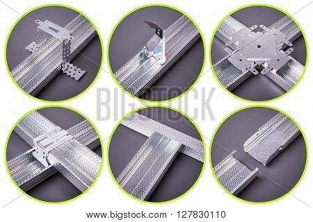 Different types of fasteners for drywall profile