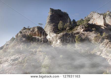 The Parrisal way. Teruel Province. Peak of mountain