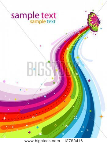 Butterfly Rainbow Trail - Vector