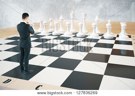 Strategy Concept Chessboard