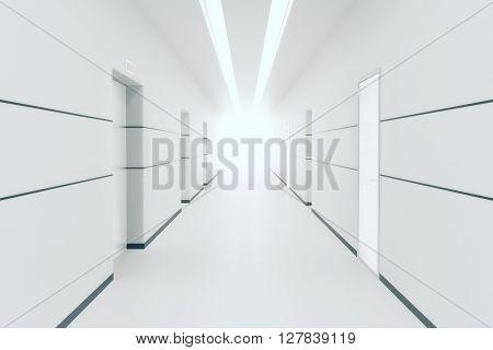 White Corridor Interior