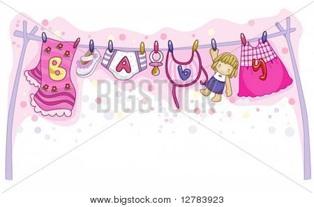 Baby Girl Things - Vector