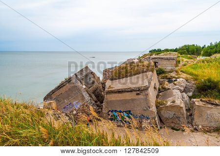 Abandoned Remains Of Northern Forts Of Ussr