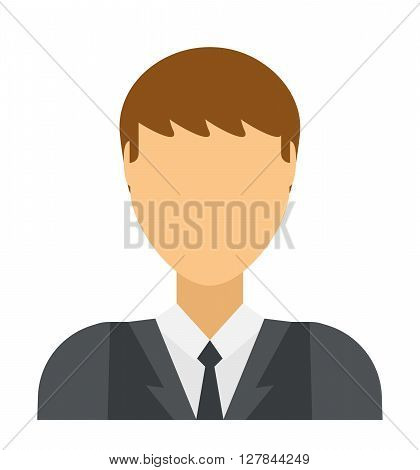Flat vector avatar face character person portrait user icon. Avatar face head and cartoon man avatar face.  Cartoon man flat avatar face. Business design isolated avatar cute student sign.