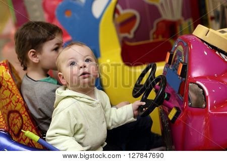 Two Brothers Playing Car Simulator
