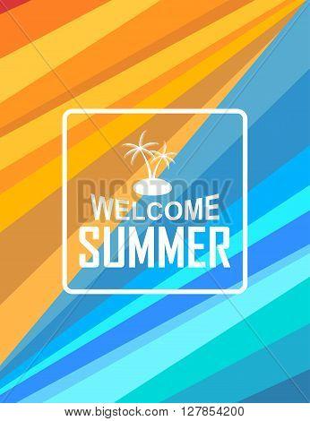 Modern abstract summer brochure vector template design