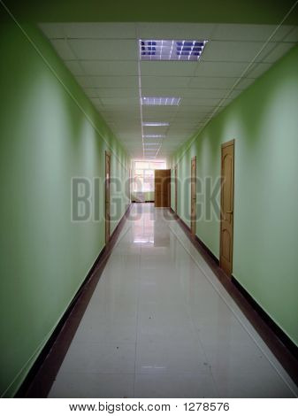 Corridor In A Hall In Office