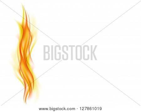 Abstract background with flames in yellow and red tones, vector illustration