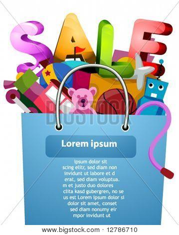 Toys Sale Flyer Design - Vector