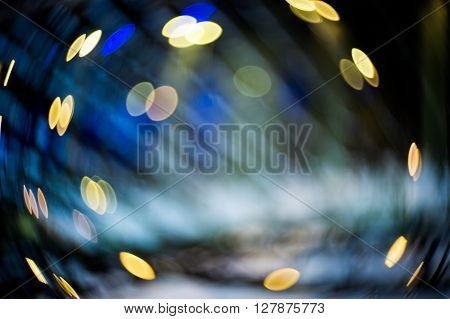 Abstract Blur Swirly Bokeh Effect