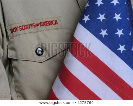 Bsa Uniform & Us Flag