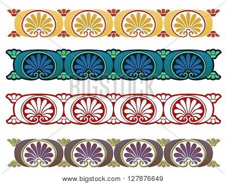 Art Nouveau border inspired by ancient Greek motifs