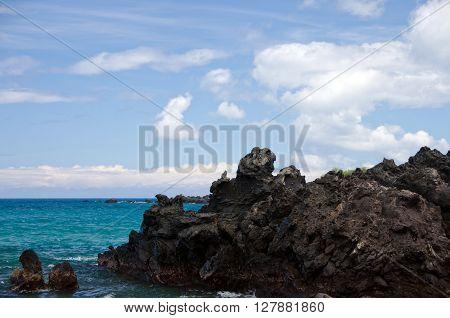 Lava Rocks At Puako Beach