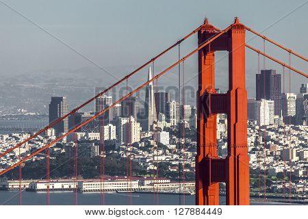 San Francisco City from San Francisco Headlands