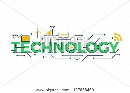Technology Word Illustration