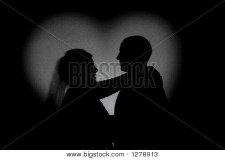 Bride And Dad Silhouette