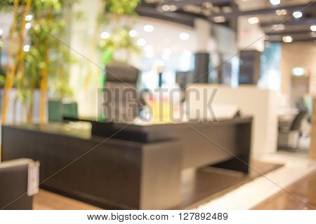 Blur Background In Office Room.