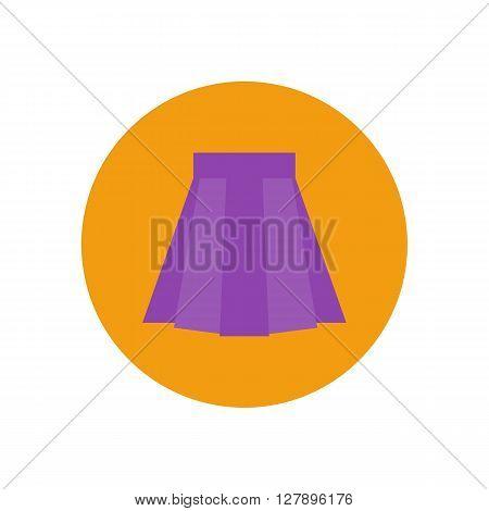 Skirt vector icon. Skirt illustration. Vector illustration