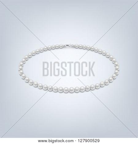 Isolated pearl necklace. Pearl necklace icon vector, isolated vector pearl necklace, pearl necklace image, pearl necklace template, pearl necklace design, pearl necklace background. Vector EPS10 illustration.