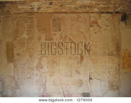 Maya Indian Carving - Palenque - Mexico