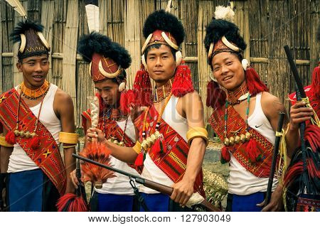 Smiling Boys At Aoleang Festival