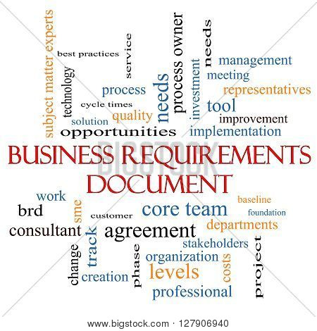 Business Requirements Document Word Cloud Concept