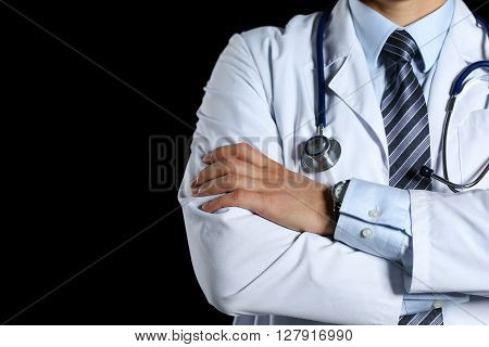 Male Medicine Therapeutist Doctor Hands Crossed On His Chest