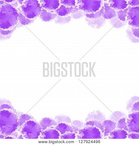 Abstract purple hand drawn watercolor background, stock vector