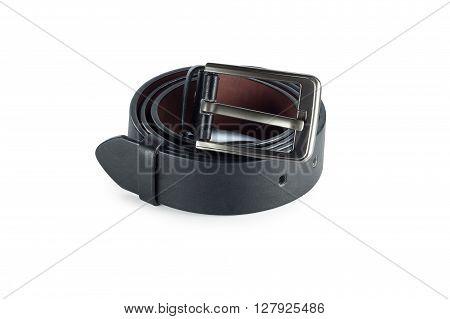 belt or men's black belt isolated on a background