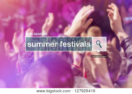 Web search bar glossary term - summer festivals definition in internet glossary.