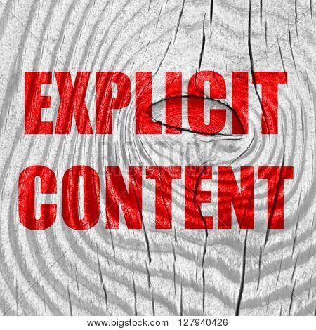 Explicit content sign poster