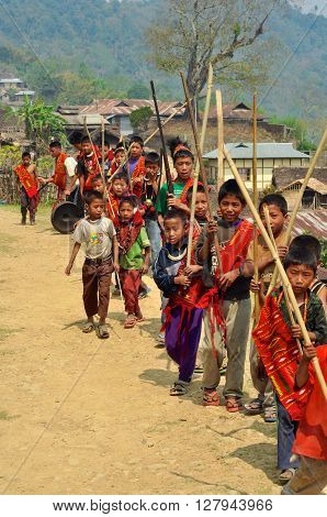 Young Warriors In Nagaland, India