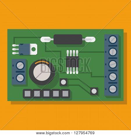 Electronic Board. Motherboard