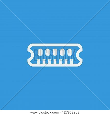 Ram Icon In Vector Format. Premium Quality Ram Symbol. Web Graphic Ram Sign On Blue Background.