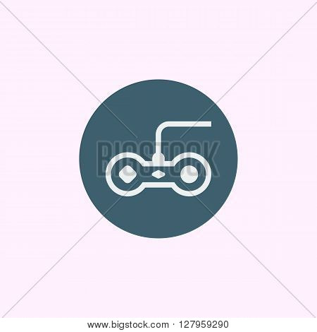 Joystick Icon In Vector Format. Premium Quality Joystick Symbol. Web Graphic Joystick Sign On Blue C