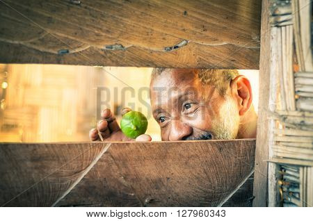 Man With Lime