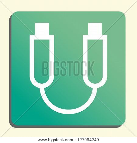 Usb Cable Icon In Vector Format. Premium Quality Usb Cable Symbol. Web Graphic Usb Cable Sign On Gre
