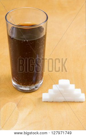 Added sugar in fizzy drinks The approximate number of sugar lumb added to fizzy drinks