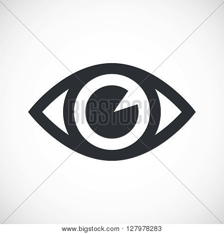 Simple Eye Icon. Isolated eye icon on white background