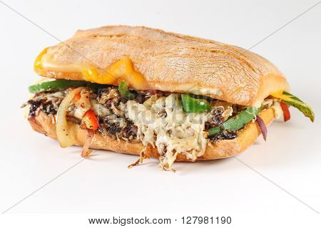 Tasty Vegetarian Sandwich In A Ciabatta