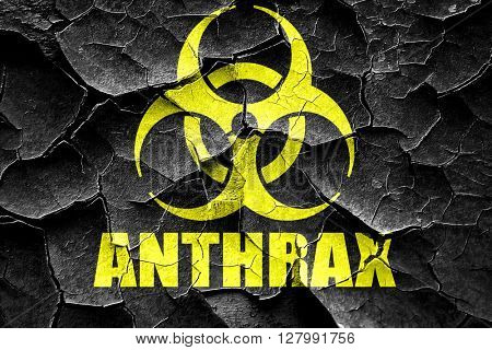 Grunge cracked Anthrax virus concept background